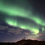 Spectaculair noorderlicht op Reykjanes
