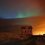 Noorderlicht bij Hvassahraun. Foto: Fred Schalk