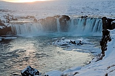 Goðafoss waterval in het noorden