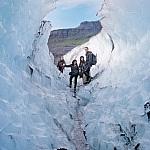 Gletsjerwandelen bij de Solheimajökull