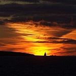 zonsondergang in Reykjavík