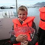 Op de boot op het Jökulsárlón