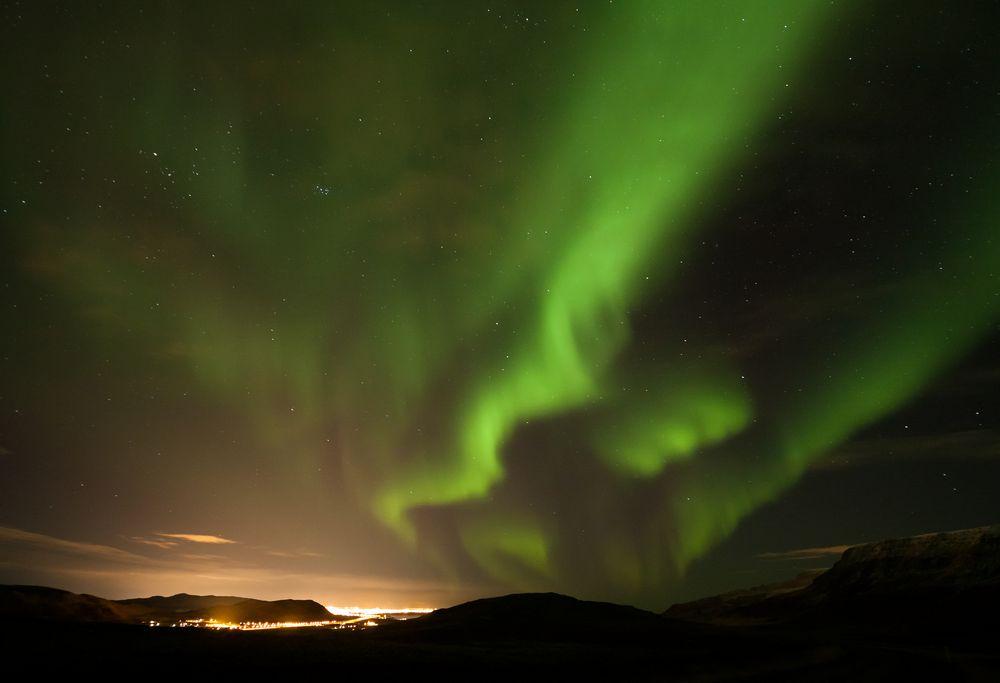 Island Nordlicht Reisen Urlaub Aurora Borealis Polarlicht