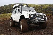 Isak Land Rover Defender voor de U-drive