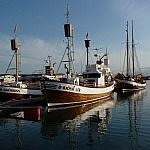 Boten voor de walvissafari in Húsavík